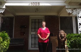 1026 N. Beckley Avenue: visiting Pat Hall