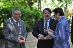 Interview met burgemeester Hans Ubachs en commissaris van de koning Wim vd Donk