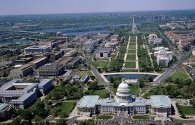 Washington DC monumenten op en nabij The Mall