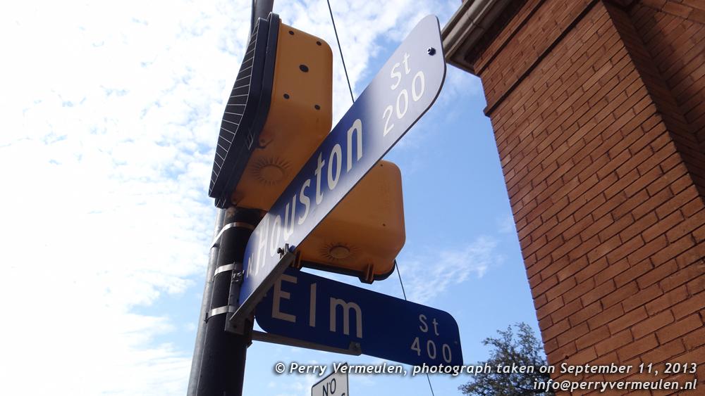 Corner of Houston and Elm Street